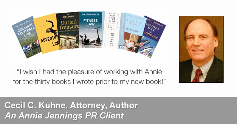 Annie Jennings PR Book Promotion Success Story - Cecil C. Kuhne